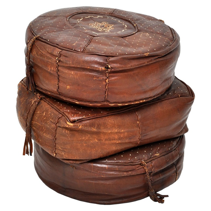 My family had a set of these when I was a kid. Love them >>Moroccan Leather Cushions via @Julia Buckingham Edelmann #modernique