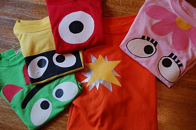 easy DIY yo gabba gabba shirts!!