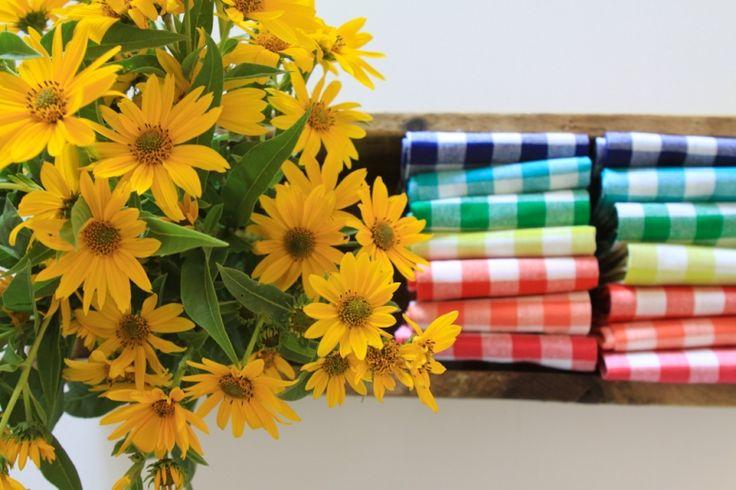 Keep a crate on the table full of dinner napkins. Great idea! | Whatever Blog | Meg Duerksen