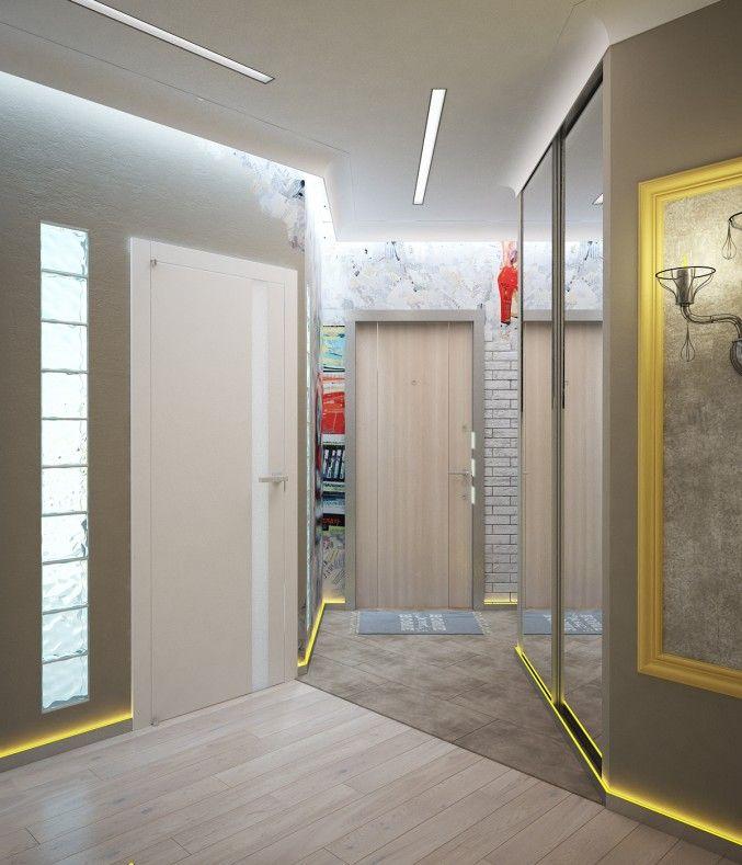 Входная зона, г.Москва. Квартира в стиле современной эклектики, дизайн, дизайн интерьера, прихожая, современная эклектика, дизайн квартиры, входная группа, эклектика, коридор, стеклоблоки в интерьере, лофт, просмотров 2