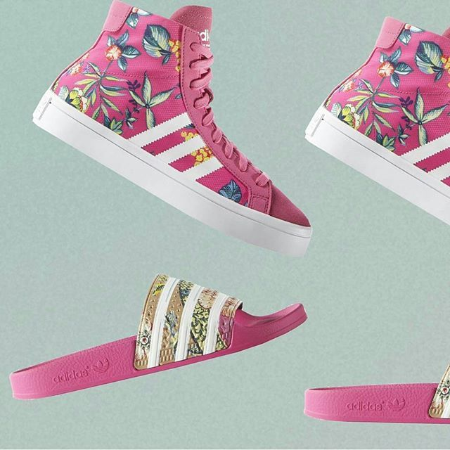 tênis-chinelo-farm-adidas.jpg (640×640)