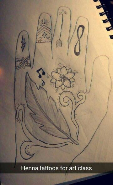 Mendhi tattoo design by Paige Jennings