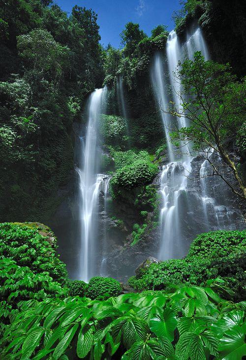 Sekumpul waterfall, Buleleng district, Central Bali, Indonesia | Nora Carol via Flickr