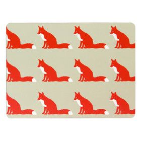 Fox inspired place mats. So adorable