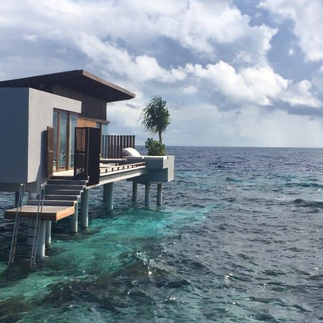 On our way from a land villa to our new water villa @hadahaa. #MYLUXLIST | Park Hyatt