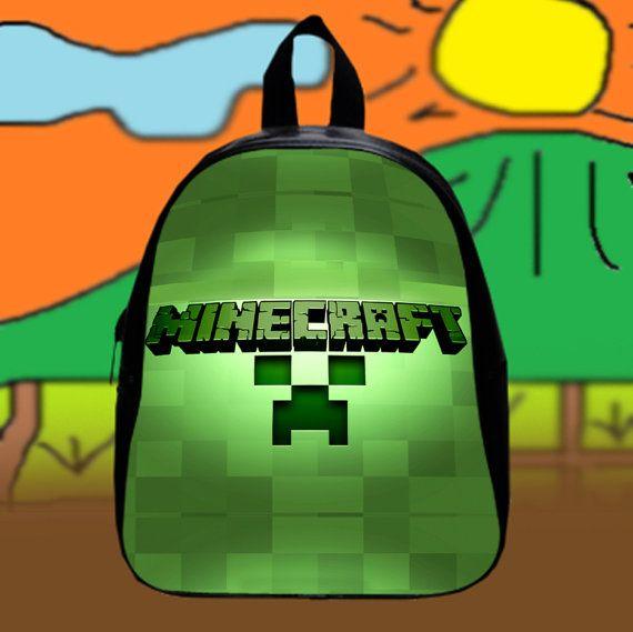 New Minecraft Creepers  Custom SchoolBags Backpack by KopiHitam55