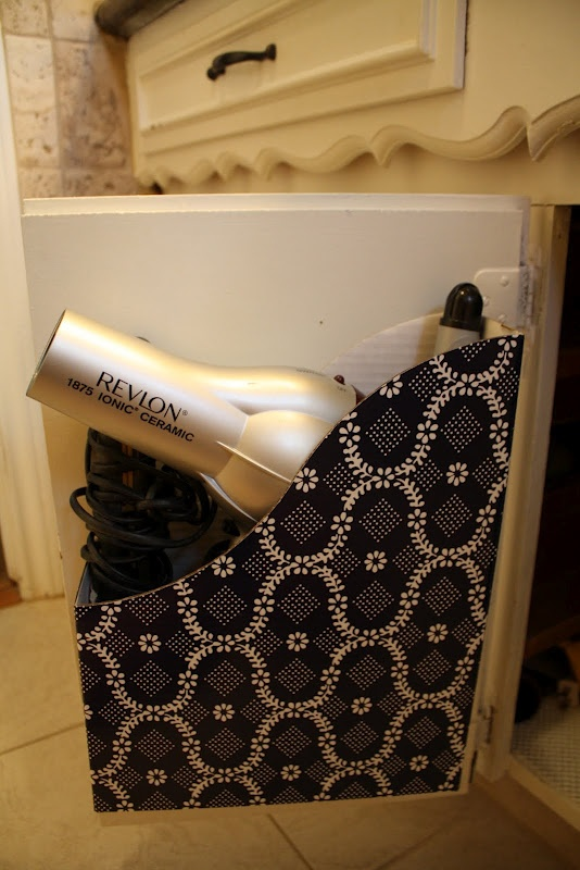 Magazine Holder For Hair Dryer Storage Attach It To The