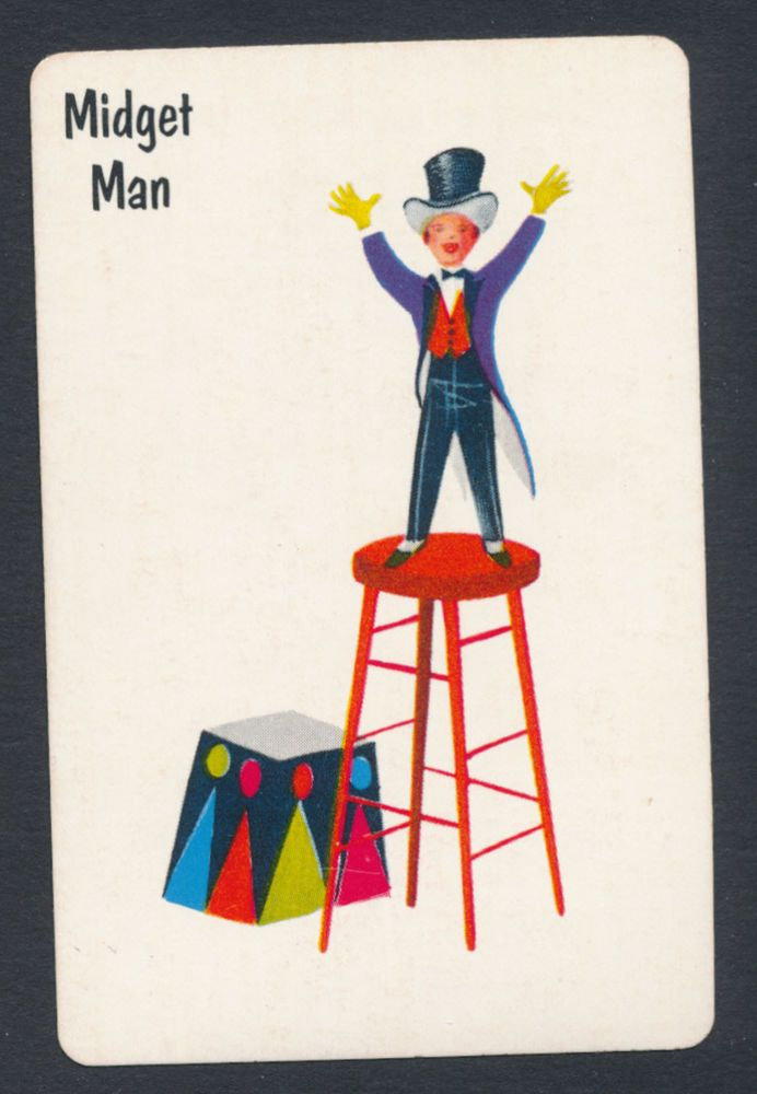Midget Man card from Old Maid game - 1 card