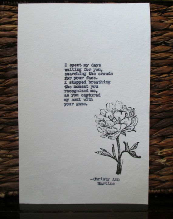 Cotton anniversary gift for him or her love poem