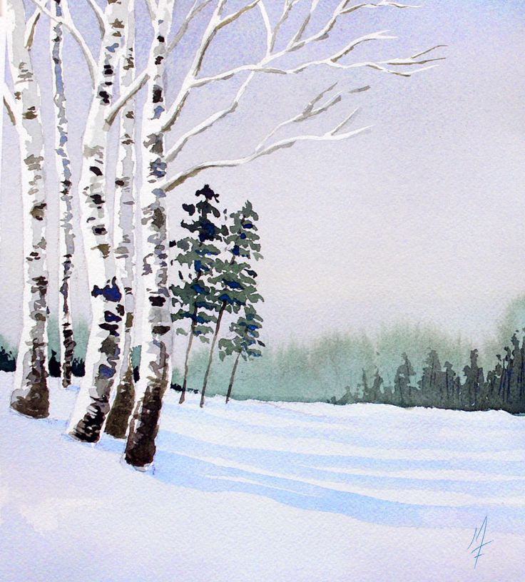 An easy approach to painting a watercolor landscape. …