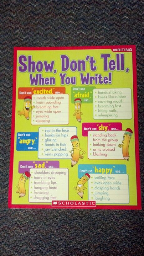 show not tell technique writing a book