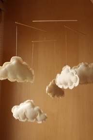 cloud crib mobile maybe with little super heros