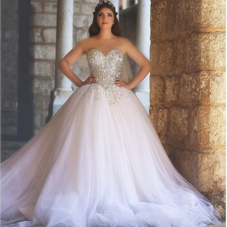 sweetheart drop waist tulle princess wedding gowns 2017