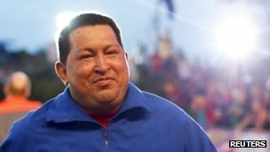 """BBC analyses Hugo Chavez's economic strategy - focused on """"external debt"""" and oil. Upon his re-election, which will see him in power for 20 years, he promised to be a """"better President."""" He's committed to an untenable growth in public housing - which he has delayed in delivering, while selling cheap oil to his close Latin American allies. """"he nation is beset by crumbling infrastructure, an overvalued currency and underperforming industry."""" Frightening.  #sociology #latin"""