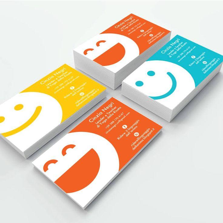Biglietti da visita  per Cinzia Negri Leader e Teacher  di Yoga della risata #personalcard #design