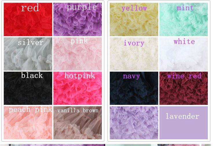 Colors you could choose from..  one or multi colored pettiskirst possible.