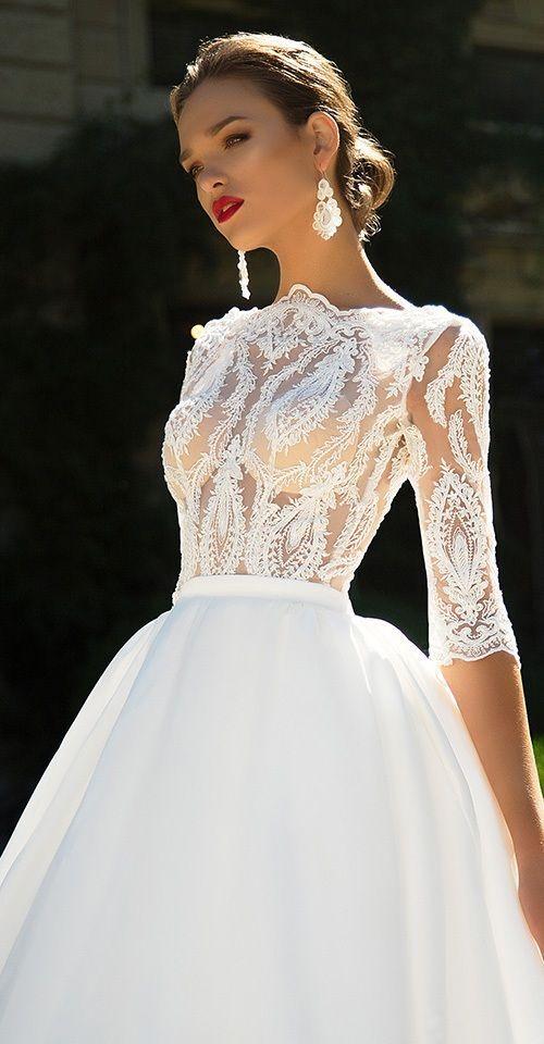 www.viajeslunamiel.com ♥   #Ideas #Viajes #LunaMiel #Love #Amor #Boda #Wedding #NosCasamos #CelebraElAmor #Juntos #Novia #Vestidos #blanco #Largo Milla Nova Bridal 2017 Wedding Dresses