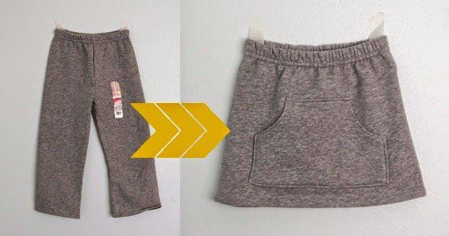 yo elijo coser: DIY: convertir unos pantalones de chándal en una falda