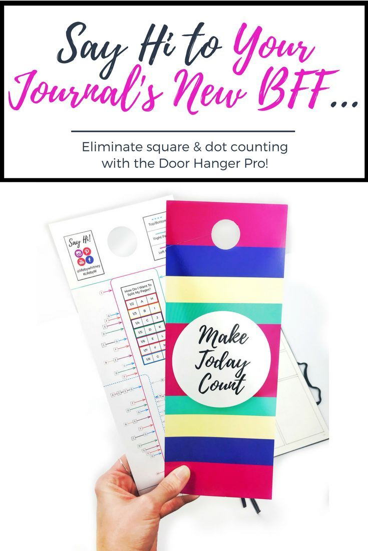 Eliminate square & dot counting with the door hanger pro - it's a new #bulletjournal must-have tool that will save you TONS of time on your layouts!