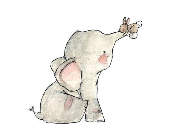 Baby Art----Uno più Bunny Hug - stampa artistica