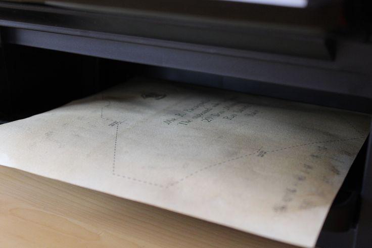 Stamparlo, a foglio completamente asciutto, come se fosse un A4.