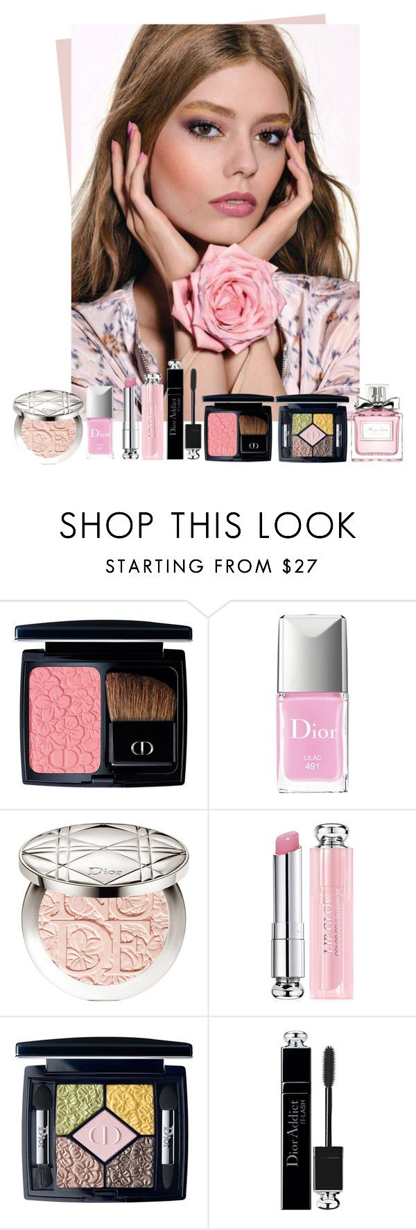 """Dior Glowing Gardens Collection 2016"" by sakuragirl ❤ liked on Polyvore featuring beauty, Christian Dior, Beauty, Dior, makeup and spring2016"