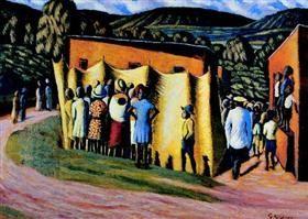 Soko Majoka (Sixpence a Door) - Gerard Sekoto