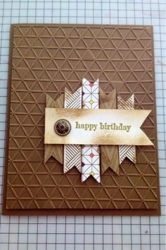 www.MidnightCrafting.com Masculine Card - Masculine card - Park Lane DSP and Tiny Triangles TIEF // change up sentiment for occasion, layout is awesome