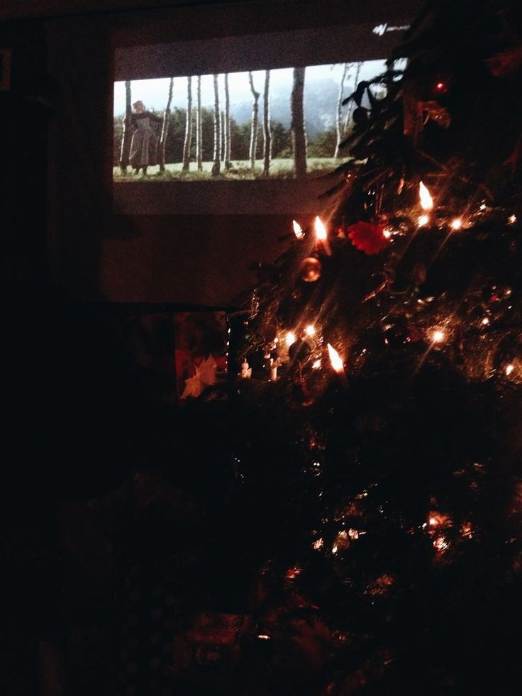 Sound of Music on the projector on Christmas Eve Eve