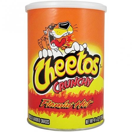Cheetos Crunchy Flamin' Hot Canister 4.25OZ (120.4g)