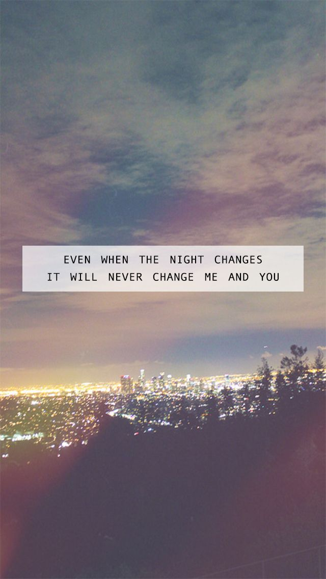 Night changes- One Direction>>> My grandpa just said that he can't wait until One Direction doesn't exist anymore so that way I would stop obsessing over someone who will never know I exist. I literally started crying so hard. No one understands how much they mean to me.