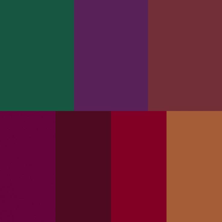jewel tone colors color block