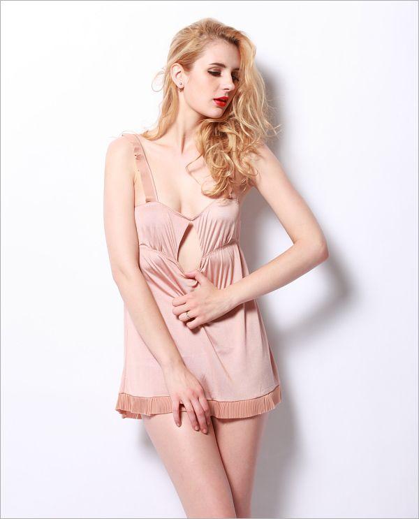 Slsp0047Thistle,100% Charmeuse Silk Sexy Terse Pure Color Slip - Pajama & Lounge,$56.98,