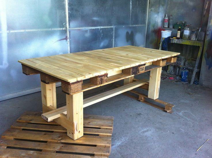 202 best images about avec des palettes on pinterest pallet chair palle - Fabriquer table avec palette ...