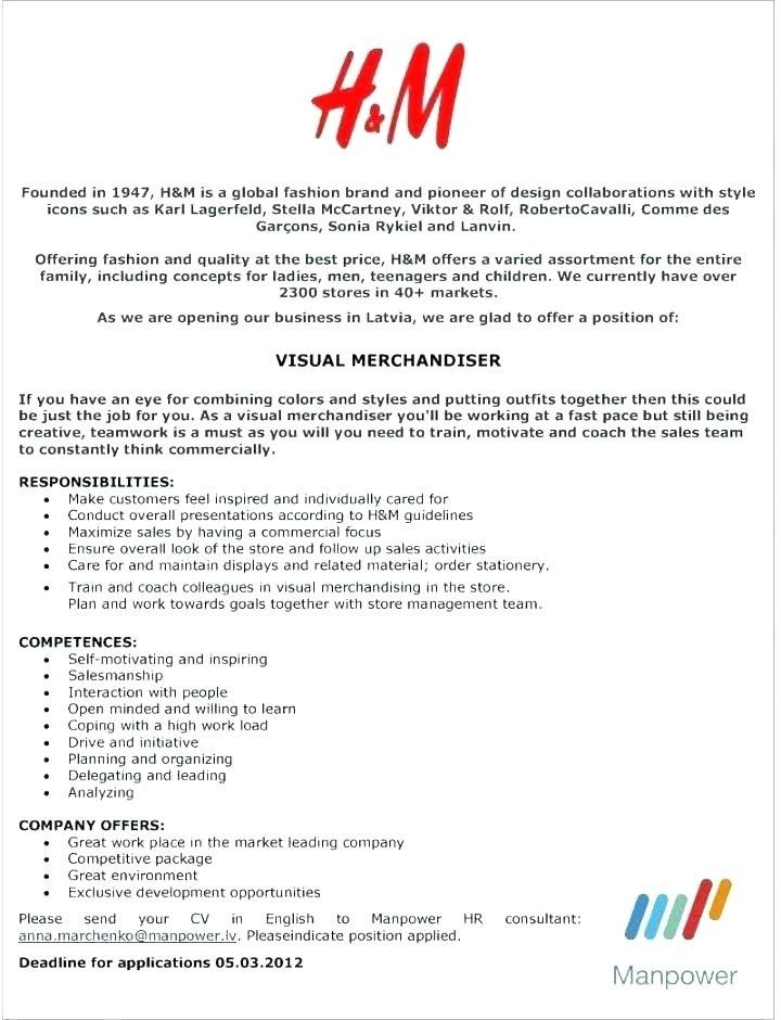 Merchandising Resume Thrifdecorblog