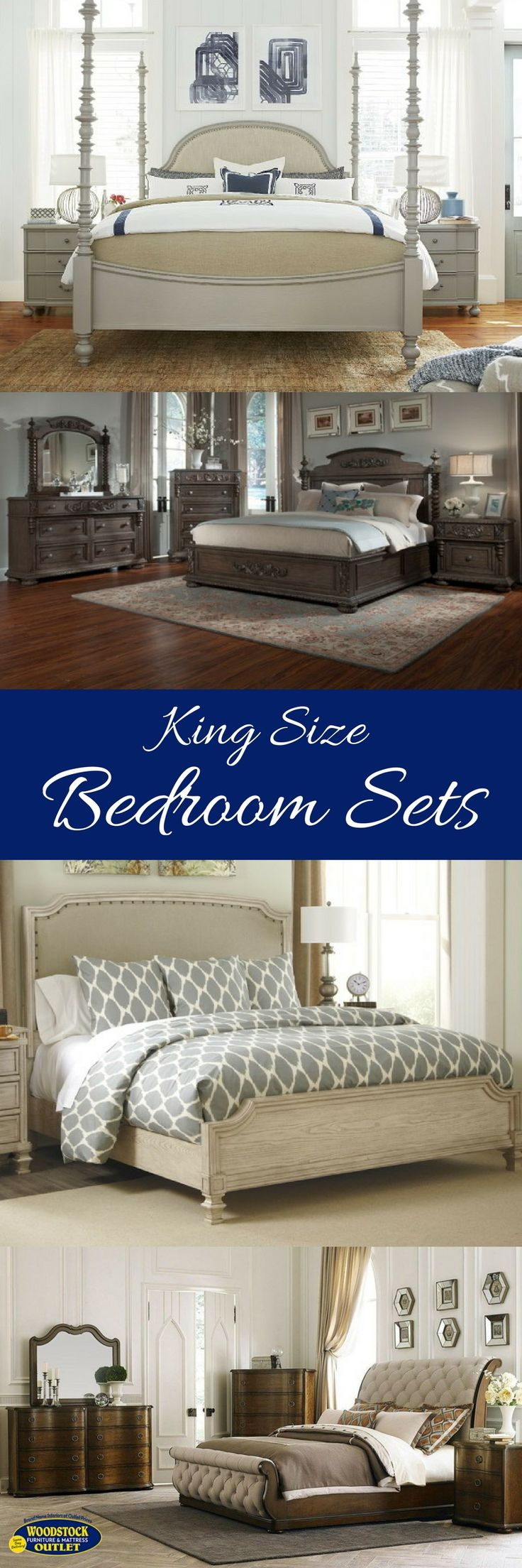 Elegant wood modern master bedroom set feat wood grain cincinnati ohio - King Size Bedroom Sets From Woodstock Furniture Mattress Outlet In Atlanta Ga