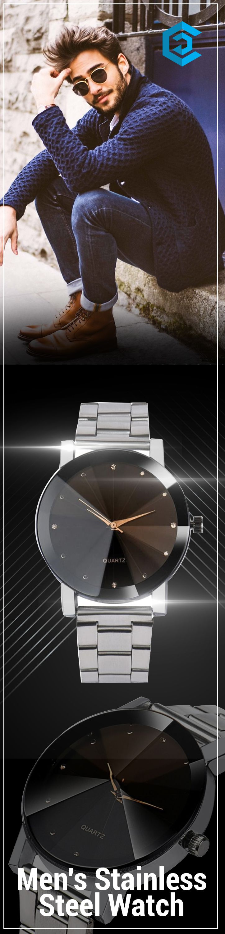 Men's Stainless Steel Watch | affordable | luxury | mens | simple | #watches #luxury #fashion #unique