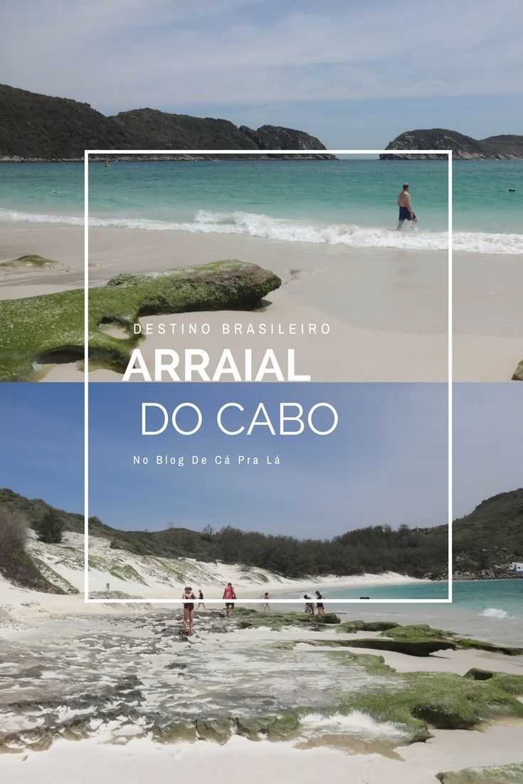 Arraial do Cabo, destino brasileiro, praia, Rio de Janeiro.