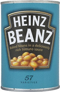 Redesign by Landor Associates. A nod to the Beanz Meanz Heinz slogan.