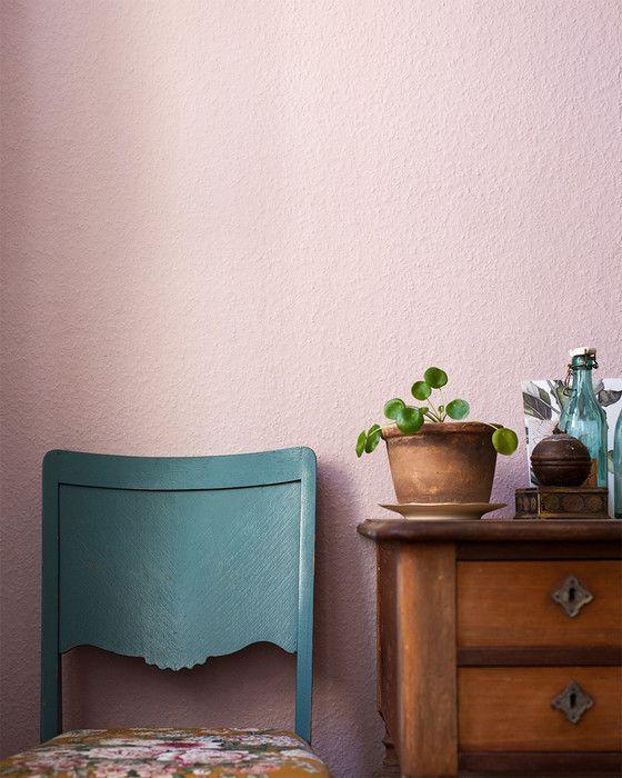 Väggfärg 321 - Puderrosa - Inspiration: Auro ekologisk färg och ytbehandling