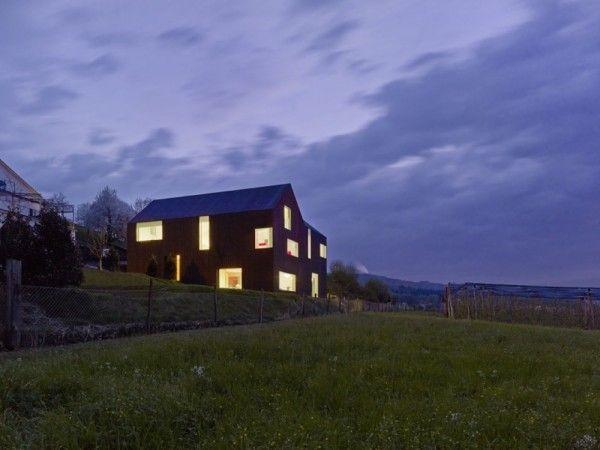 Lighting View from Modern Minimalist House with Amazing Surrounding in Winterthur Switzerland 600x450 Modern Minimalist House with Amazing Surrounding in Winterthur, Switzerland