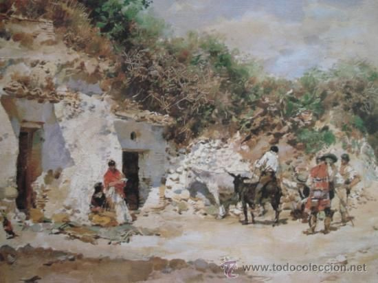 TRATO EN EL SACROMONTE. ISIDORO MARIN. (Arte - Láminas Antiguas)