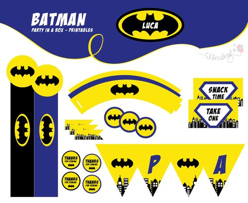 ONLINE STORE - Batman - Party in a box  http://awishawaywhimsical.blogspot.com/p/online-store_8.html#!/~/category/id=8500072&offset=0&sort=normal