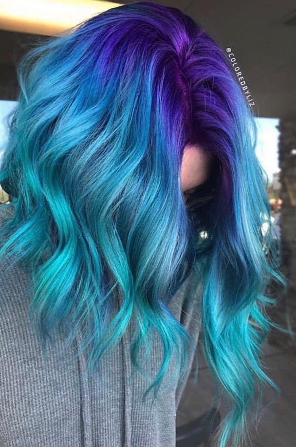 Hair Colour Design By Ashley Wright On Hair 3 Hair Color Blue