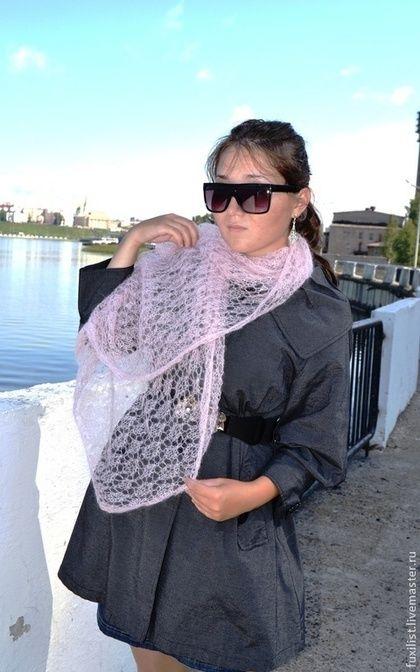 Ажурный шарф в наличии за 1500 руб.+ 200руб. доставка почтой Пряжа-итальянский тончайший кид-мохер.