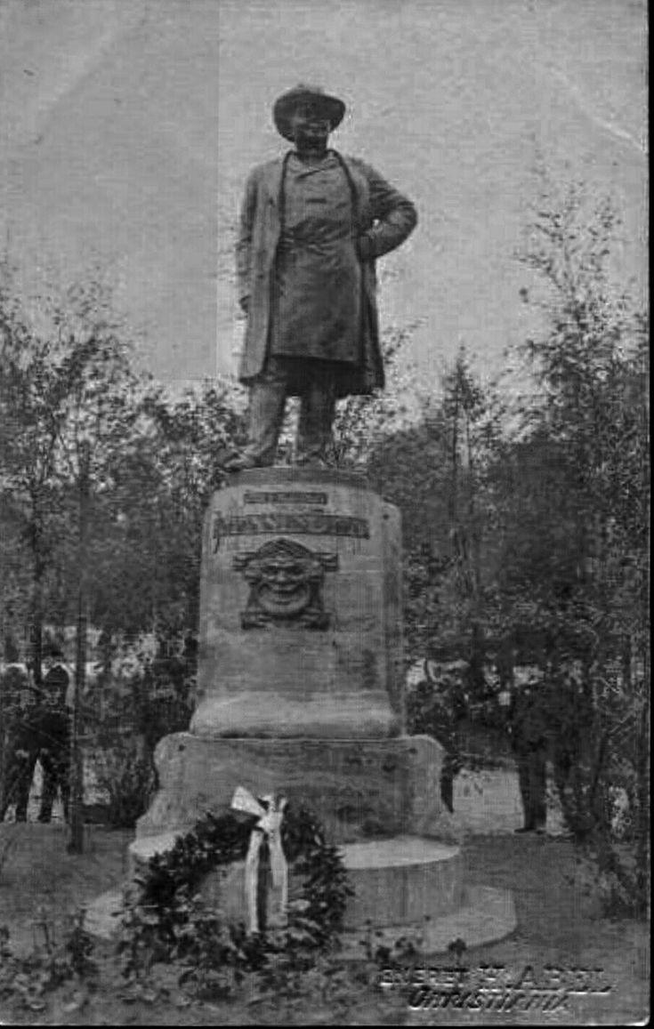 Christiania Kristiania Johannes Brun Statue. Studenterlunden Utg Abel tidlig 1900-tallet