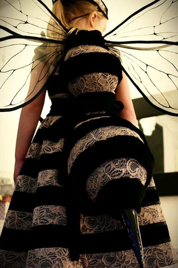 costume and cosplay ideas | what an unusual and stylish take on the bee costume...