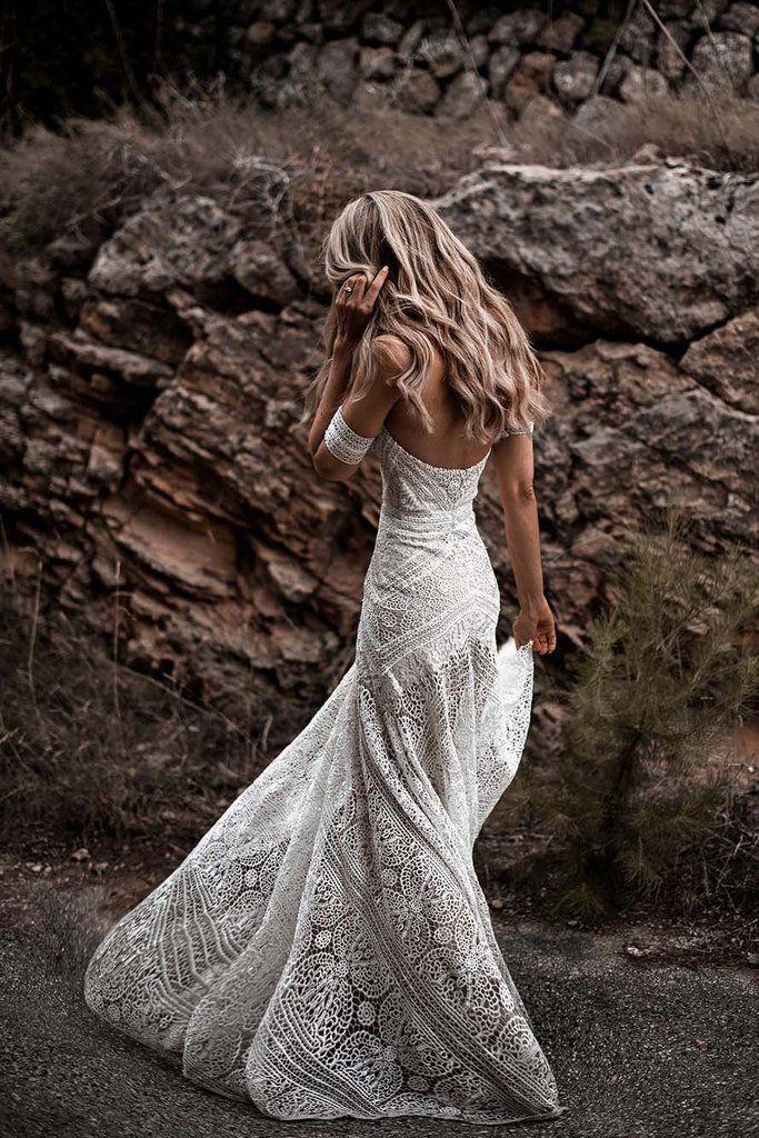Elegant Mermaid Lace Sweetheart Beach Wedding Dresses Boho Bridal Dresses Pw614 Lace Beach Wedding Dress Boho Wedding Dress Lace Sweep Train Wedding Dress,Second Hand Wedding Dresses Uk Size 18