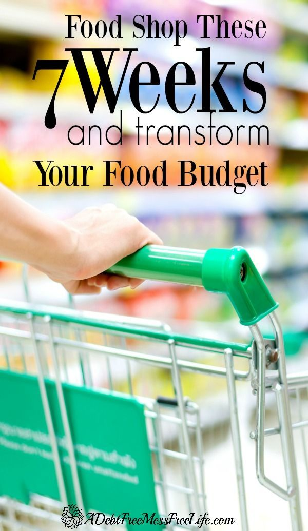 Use the grocery store sales cycle and learn how to save big bucks by shopping for food for your family on these seven weeks! See your grocery budget transformed!