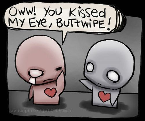Oww you kissed my eye buttwipe pon and zi cartoon by jeff thomas